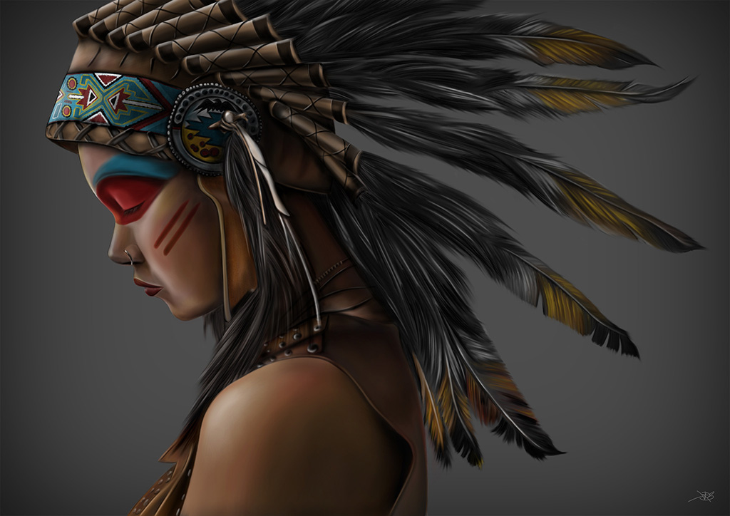 Davide Franceschini American Indian Girl
