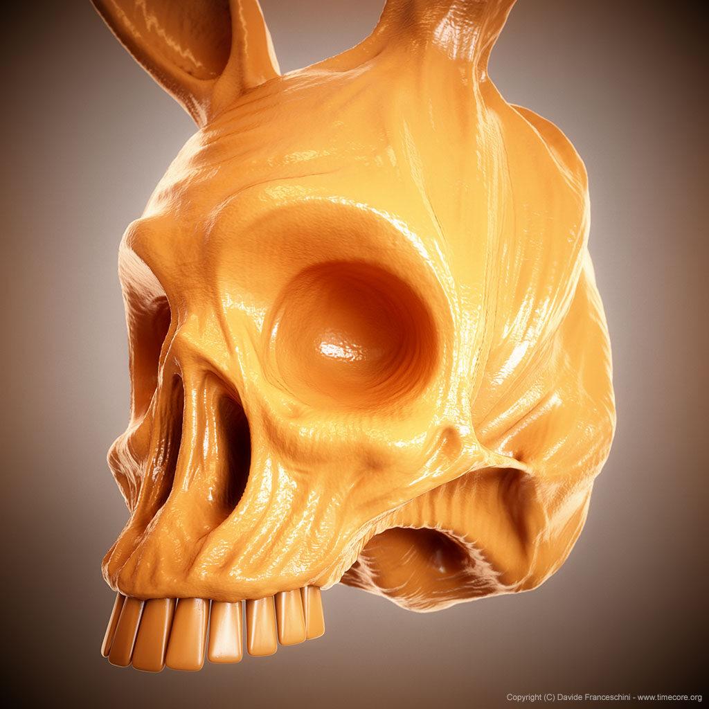 bunny skull 08