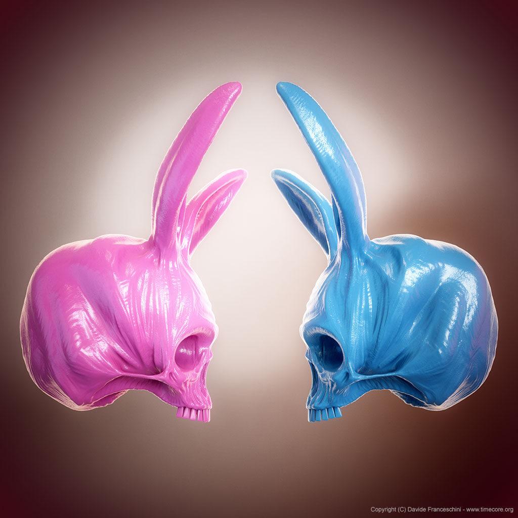 bunny skull 09