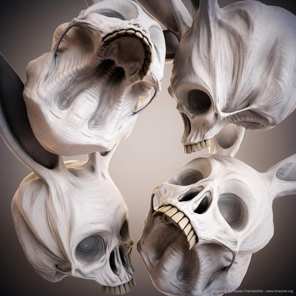 bunny skull 11