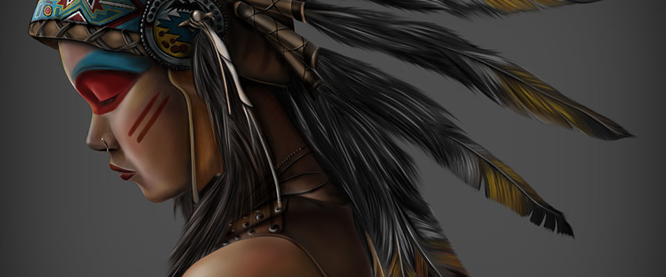 header american indian girl