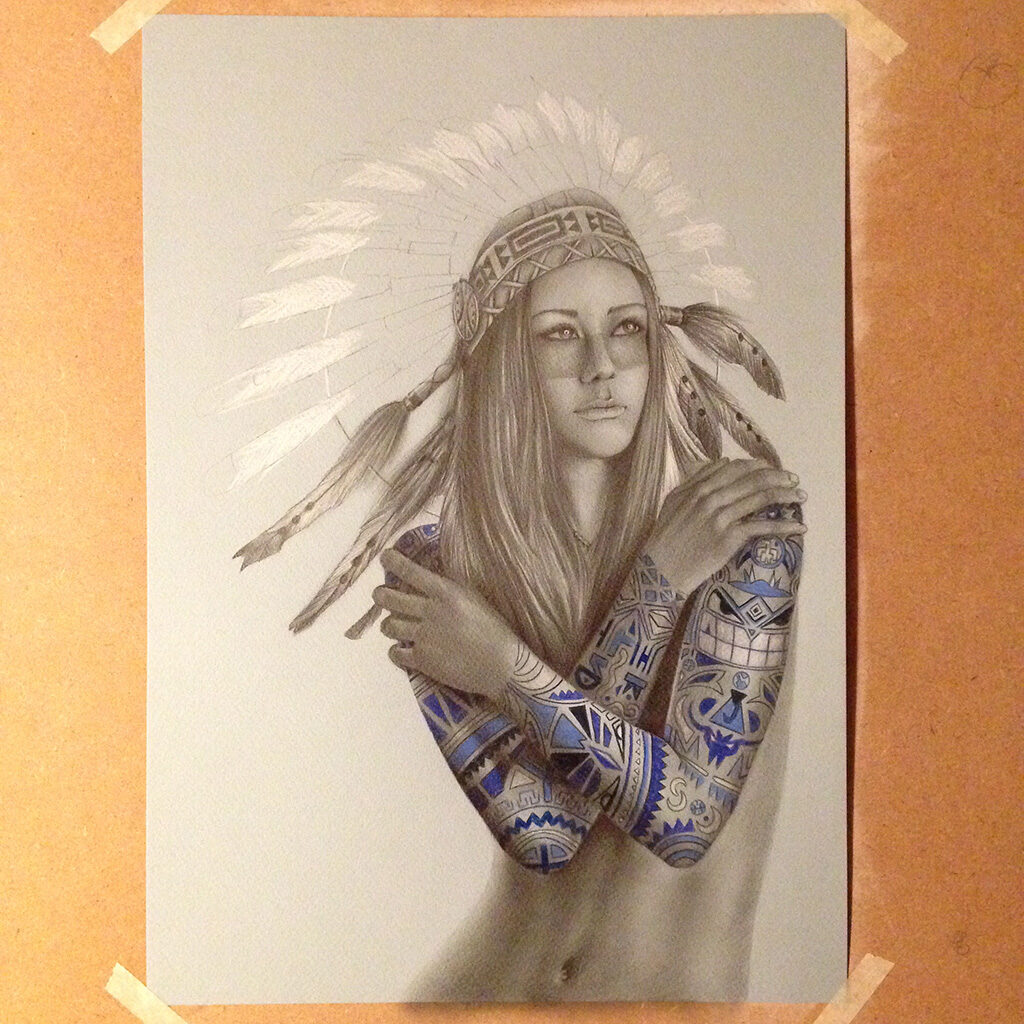 native girl tattoo 09