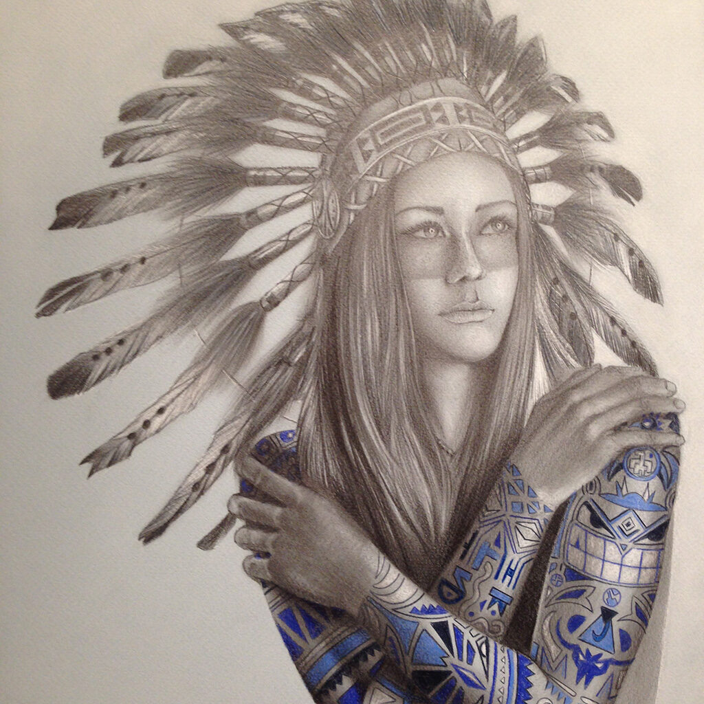 native girl tattoo 12