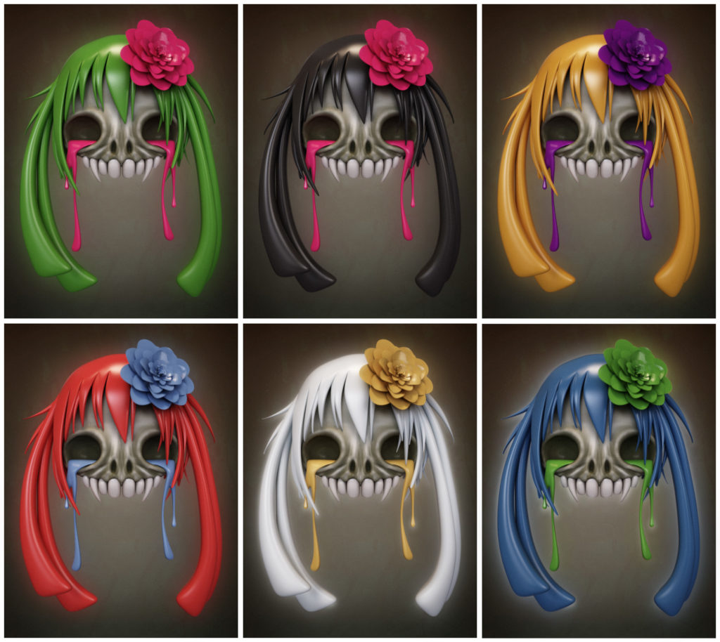 skull hairstyle 19